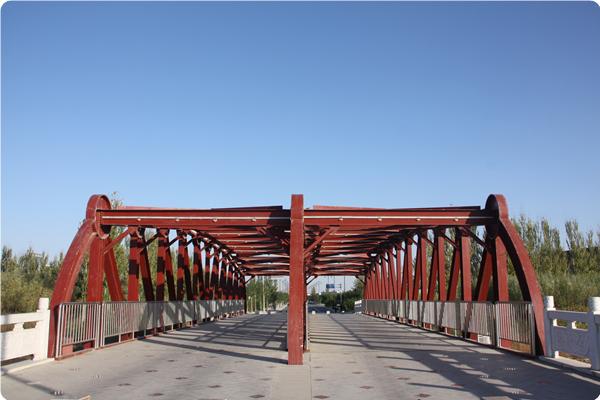 吴忠市学院路钢结构景观桥