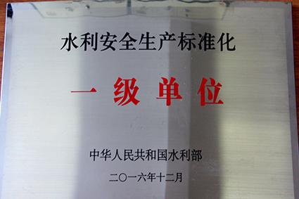 【奖项荣誉】全国水利安全生产标准化一级单位