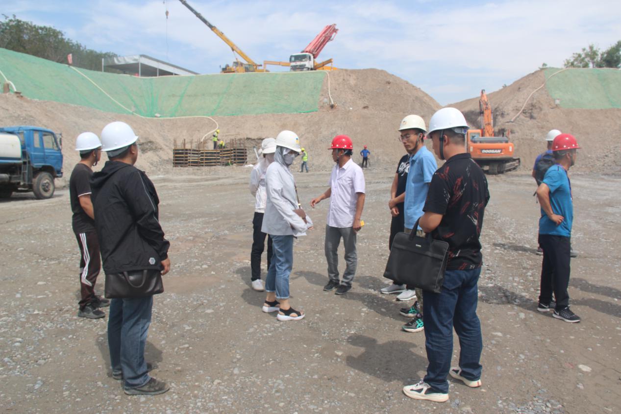 清水河流域城乡供水工程(水工部分)一标段1#泵站基础通过验收