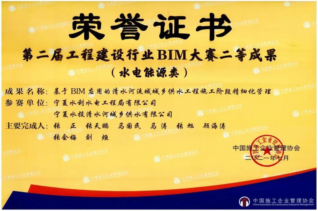 公司在第二届工程建设行业 BIM大赛中荣获佳绩